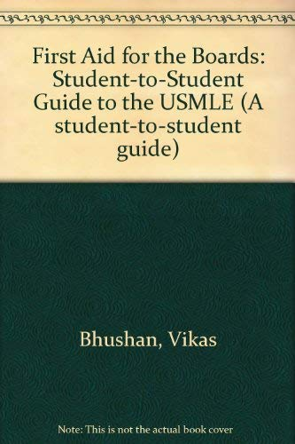 9780838525883: First Aid for the Boards: A Student to Student Guide