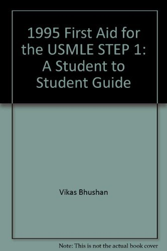 9780838525937: 1995 First Aid for Usmle Step 1 A Student-To-Student Guide