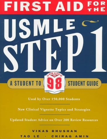 9780838526033: First Aid for the USMLE Step 1: A Student-to-student Guide