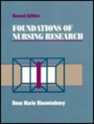 9780838526941: Foundations of Nursing Research
