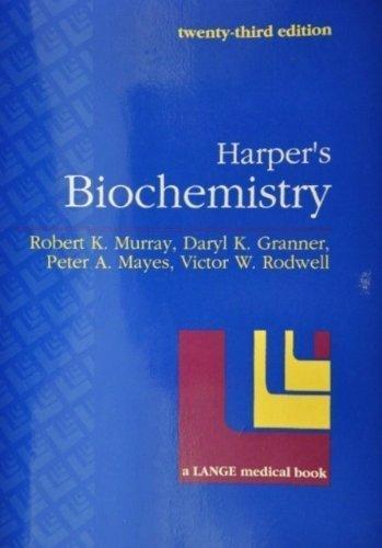 9780838535622: Harper's Biochemistry/a Lange Medical Book (Harper's Illustrated Biochemistry)