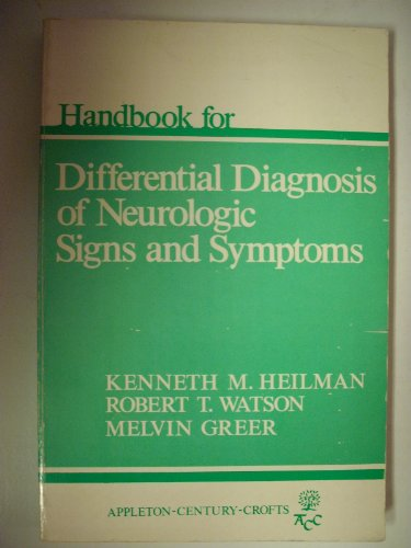 9780838536179: Handbook for the Differential Diagnosis of Neurological Signs and Symptoms