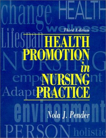 9780838536599: Health Promotion in Nursing Practice