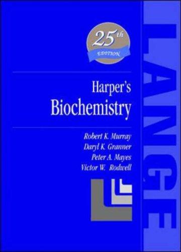 9780838536841: Harper's Biochemistry (Lange Medical Books)
