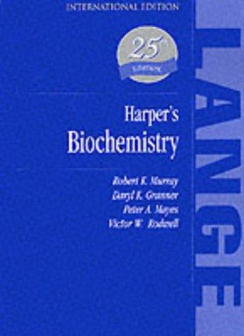 9780838536902: Harper's Biochemistry (A Lange Medical Book)