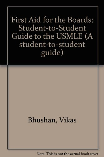 9780838537329: 1993 First Aid for the Boards: A Student to Student Guide