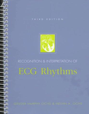 9780838543238: Recognition and Interpretation of ECG Rhythms (3rd Edition)