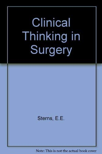 9780838556863: Clinical Thinking in Surgery