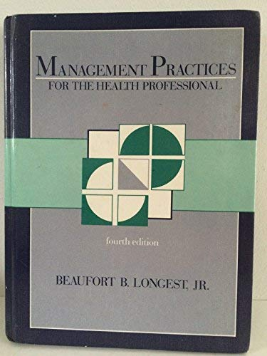 9780838561232: Management Practices Health Professional