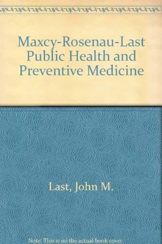 9780838561881: Maxcy-Rosenau-Last Public Health and Preventive Medicine