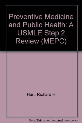 9780838563199: MEPC: Preventive Medicine and Public Health: A USMLE Step 2 Review