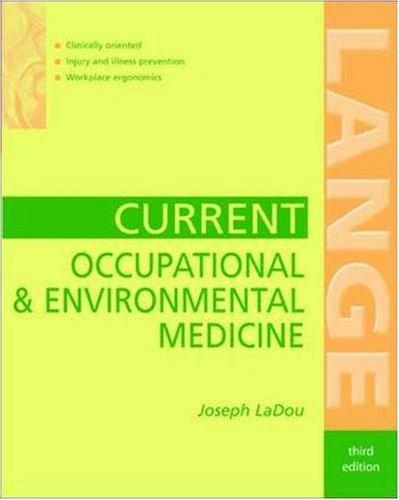 9780838572191: Current Occupational & Environmental Medicine (Lange Medical Books)