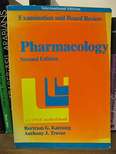 9780838578384: Pharmacology: A Review for Examinations