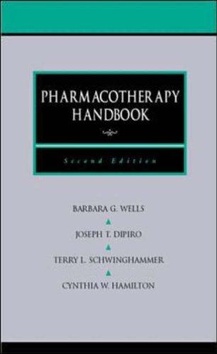 9780838581650: Pharmacotherapy Handbook