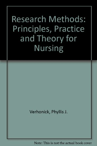 9780838582756: Research Methods: Principles, Practice, and Theory for Nursing