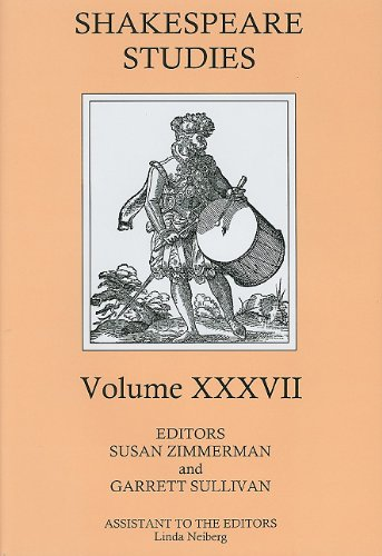 Shakespeare Studies, Volume XXXVII (Hardcover)
