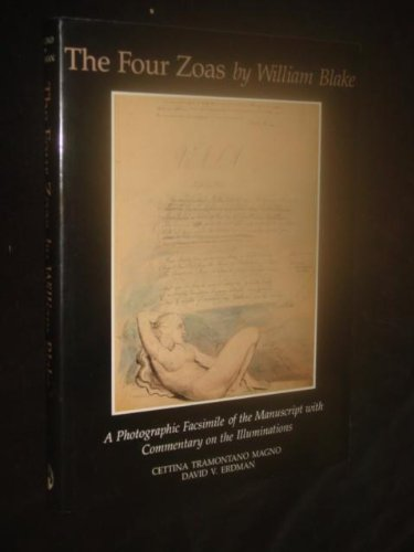 9780838750834: The Four Zoas: A Photographic Facsimile of the Manuscript With Commentary on the Illuminations