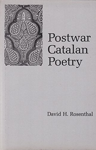 Postwar Catalan Poetry (Hardback): David H. Rosenthal