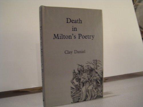 9780838752487: Death in Milton's Poetry