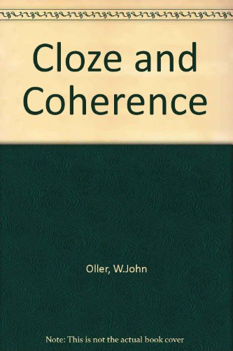 9780838753033: Cloze and Coherence