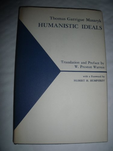 9780838776643: Humanistic Ideals (English and Czech Edition)