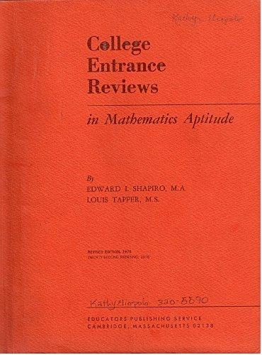 9780838800461: College Entrance Reviews in Mathematics Aptitude