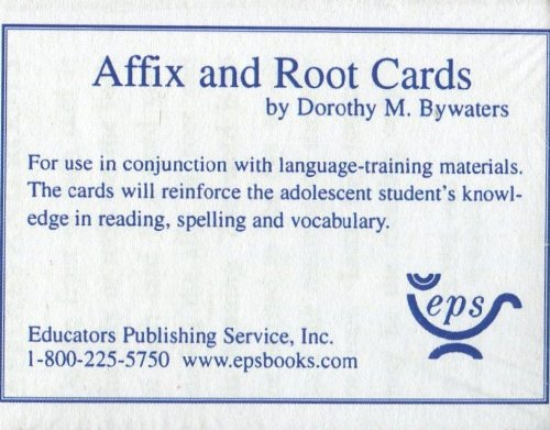 9780838803240: Affix & Root Cards