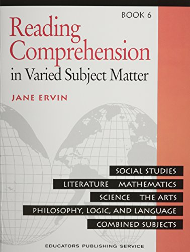 Reading Comprehension Book 6: In Varied Subject Matter (0838806058) by Jane Ervin