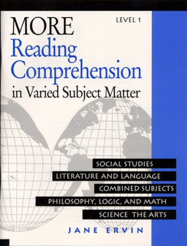 9780838806067: More Reading Comprehension in Varied Subject Matter, Level 1