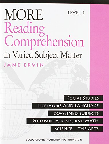 9780838806081: More Reading Comprehension: In Varied Subject Matter, Level 3