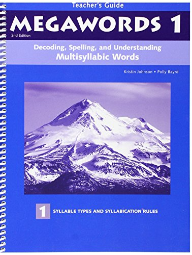 9780838809013: Decoding, Spelling, and Understanding Multisyllabic Words: Syllable Types and Cyllabication Rules (Megawords)