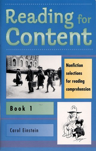 Reading for Content, Book 1 (Grade 3) (9780838816516) by Carol Einstein