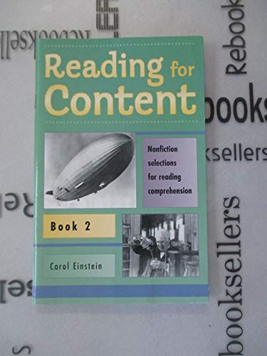 Reading for Content and Speed Book 2 (Grade 4) (9780838816523) by Einstein, Carol