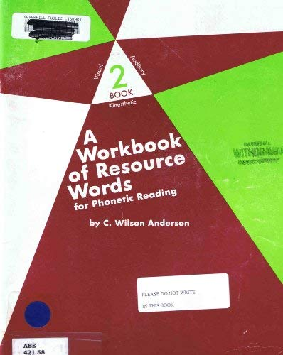 9780838817490: A Workbook of Resource Words for Phonetic Reading (VAK: Visual, Auditory, Kinetic, 2)