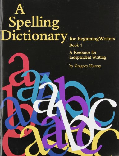 9780838820568: A Spelling Dictionary for Beginning Writers Book 1: A Resource for Independent Writing