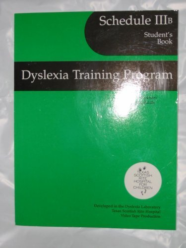 9780838822104: Dyslexia Training Pgm/Schedule Iib