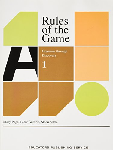 9780838822371: Rules of the Game: Grammar Through Discovery/Book 1/2237