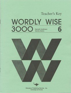 9780838824467: Wordly Wise 3000 Book 6 - Teacher's Key