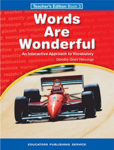 9780838825365: Words Are Wonderful: Teachers Edition Book 3