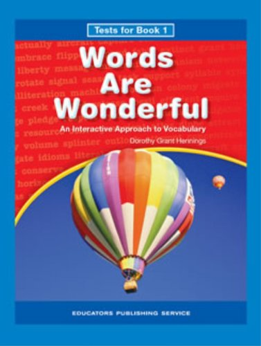 9780838825372: Words are Wonderful Book 1 Tests - Grade 3