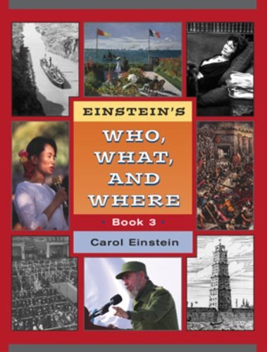 Einsteins Who What Where 3 Student Grd 6-7 (0838826539) by Carol Einstein