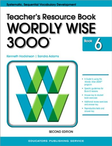 9780838828373: Wordly Wise 3000: Teacher's Resource Book, Book 6