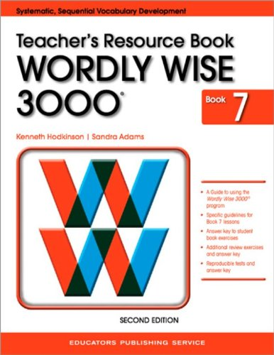 9780838828380: Wordly Wise 3000 Book 7 Teacher's Resource Book