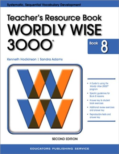 9780838828397: Test Booklet for Wordly Wise 3000, Book 8 Grade 8