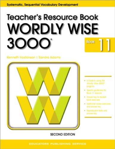 9780838828427: Wordly Wise 3000 Grade 11 Teacher Resource Book