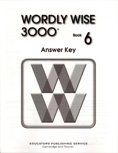 9780838828502: Wordly Wise 3000: Book 6 Answer Key