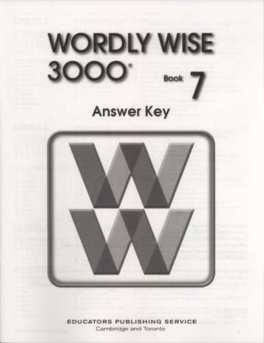 9780838828519: Wordly Wise 3000 Book 7 Answer Key