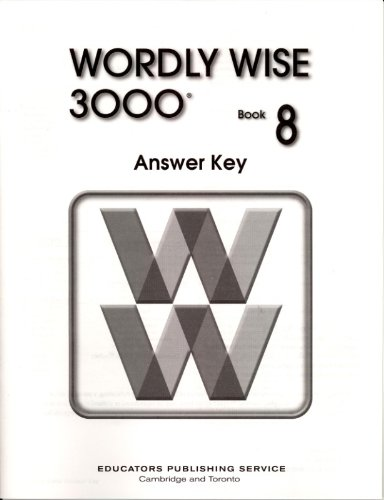 9780838828526: Wordly Wise 3000 Book 8 Answer Key