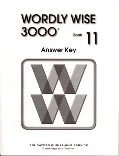 9780838828557: Wordly Wise 3000, Book 11, Answer Key, 2nd Edition