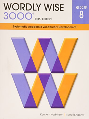 9780838876084: Wordly Wise 3000 Book 8: Systematic Academic Vocabulary Development